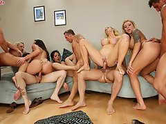 Busty Brunette Alison Tyler In Crazy House Party Orgy